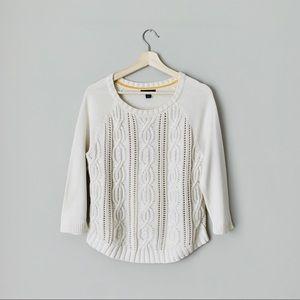 {Tommy Hilfiger} White Knit Sweater